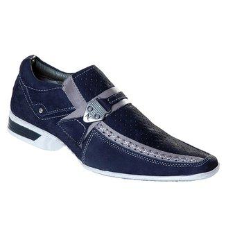 62d522e181 Sapato Casual Social Nevano Em Couro Legítimo Masculino 5124