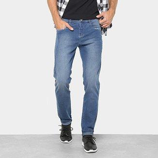 7ca78165db Calça Jeans Reta Preton Lavagem Clara Cintura Média Masculina