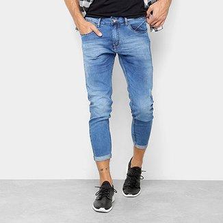 4ce02a77eaa Calça Jeans Cropped Preston Barra Dobrada Masculina