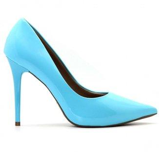 5ae9ce3cad Scarpins Azul Tamanho 33 - Calçados
