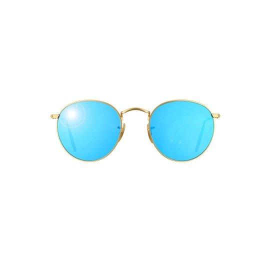 Óculos de Sol Ray Ban Round Metal - Azul - Compre Agora   Zattini fc140c10bf