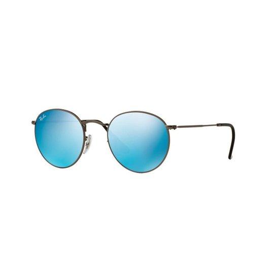 216de6a4c Óculos de Sol Ray-Ban RB3447 Round Metal Lentes Espelhadas | Zattini