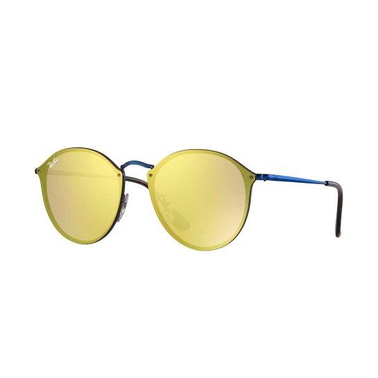 dc508cf03c549 Óculos de Sol Ray-Ban Blaze Round RB3574N - Azul - Compre Agora ...