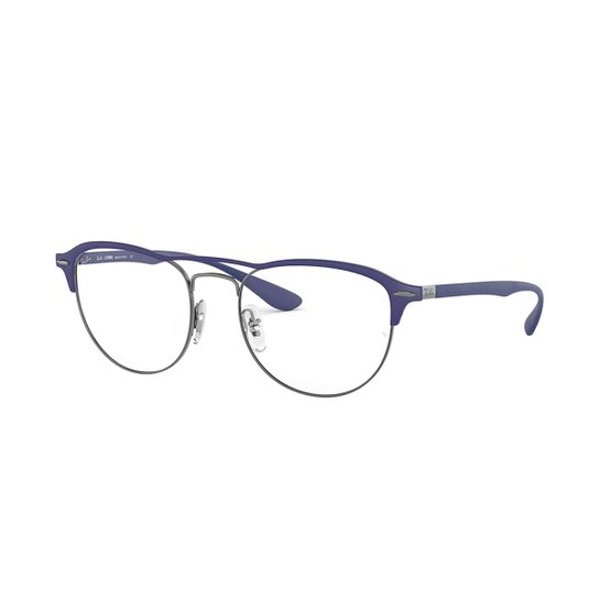 536ec9f702a82 Armação de Óculos Ray-Ban RB3596 Feminina - Azul - Compre Agora ...