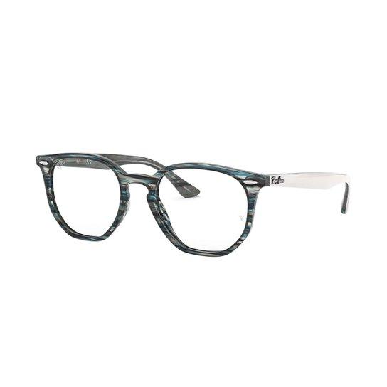 58376584ba591 Armação de Óculos Ray-Ban Hexagonal Feminina - Azul - Compre Agora ...