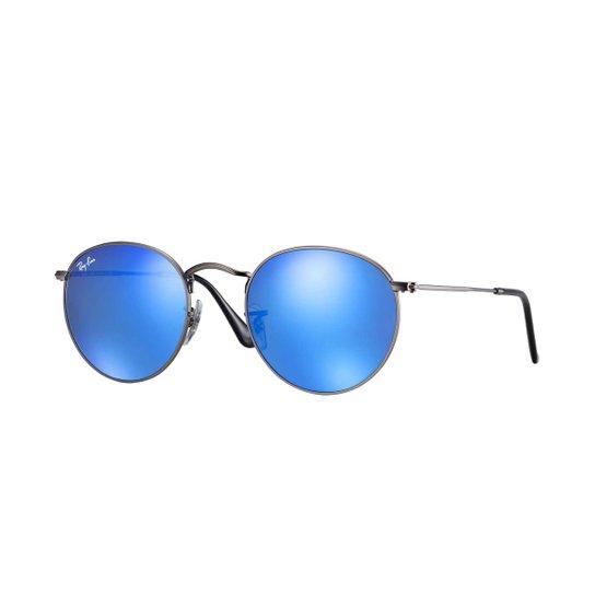 0117a60f5 Óculos de Sol Ray-Ban Round Lentes Espelhadas Feminino - Azul | Zattini