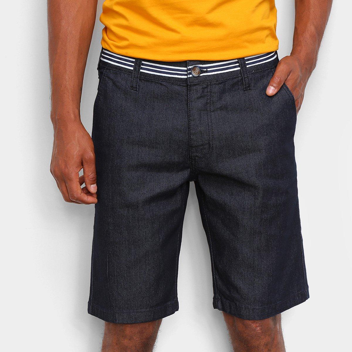 Bermuda Jeans Colcci Noah Listras Masculina
