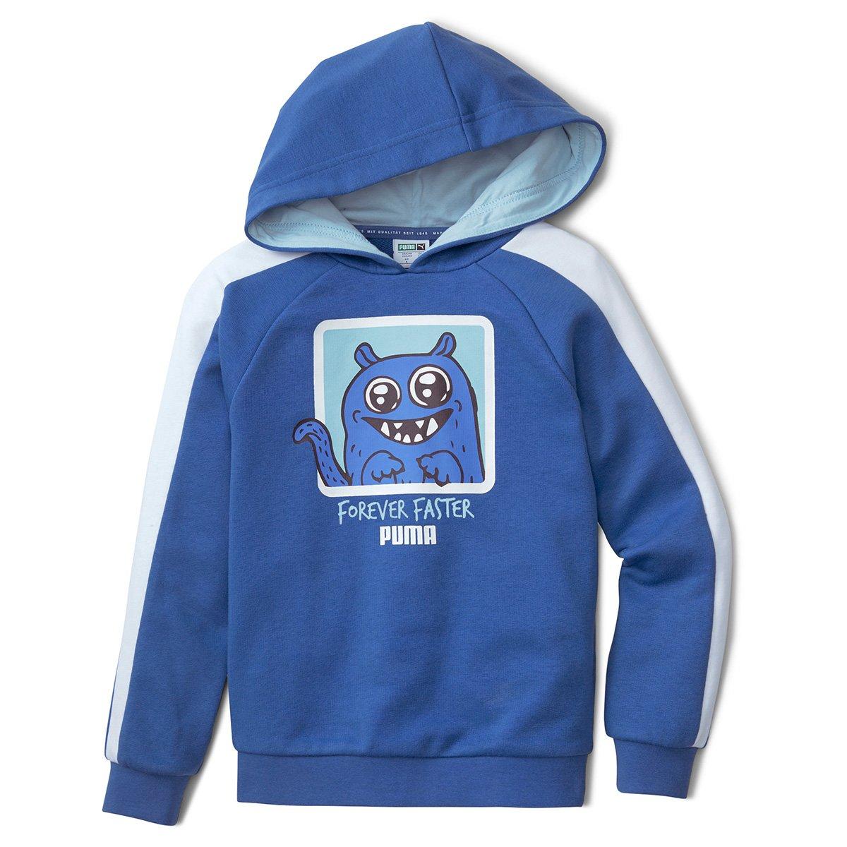 Moletom Infantil Puma Monster Com Capuz