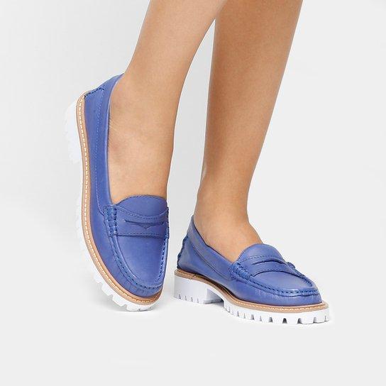 94aff94c96 Mocassim Couro Shoestock Tratorado Feminino - Compre Agora