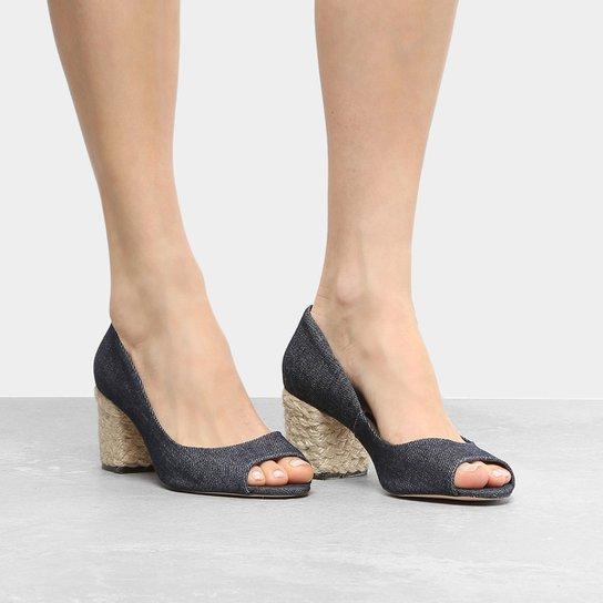 80df70188 Peep Toe Shoestock Salto Grosso Corda - Compre Agora | Zattini