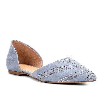 4bf76b7411 Sapatilha Shoestock Bico Fino Hot Fix Feminina