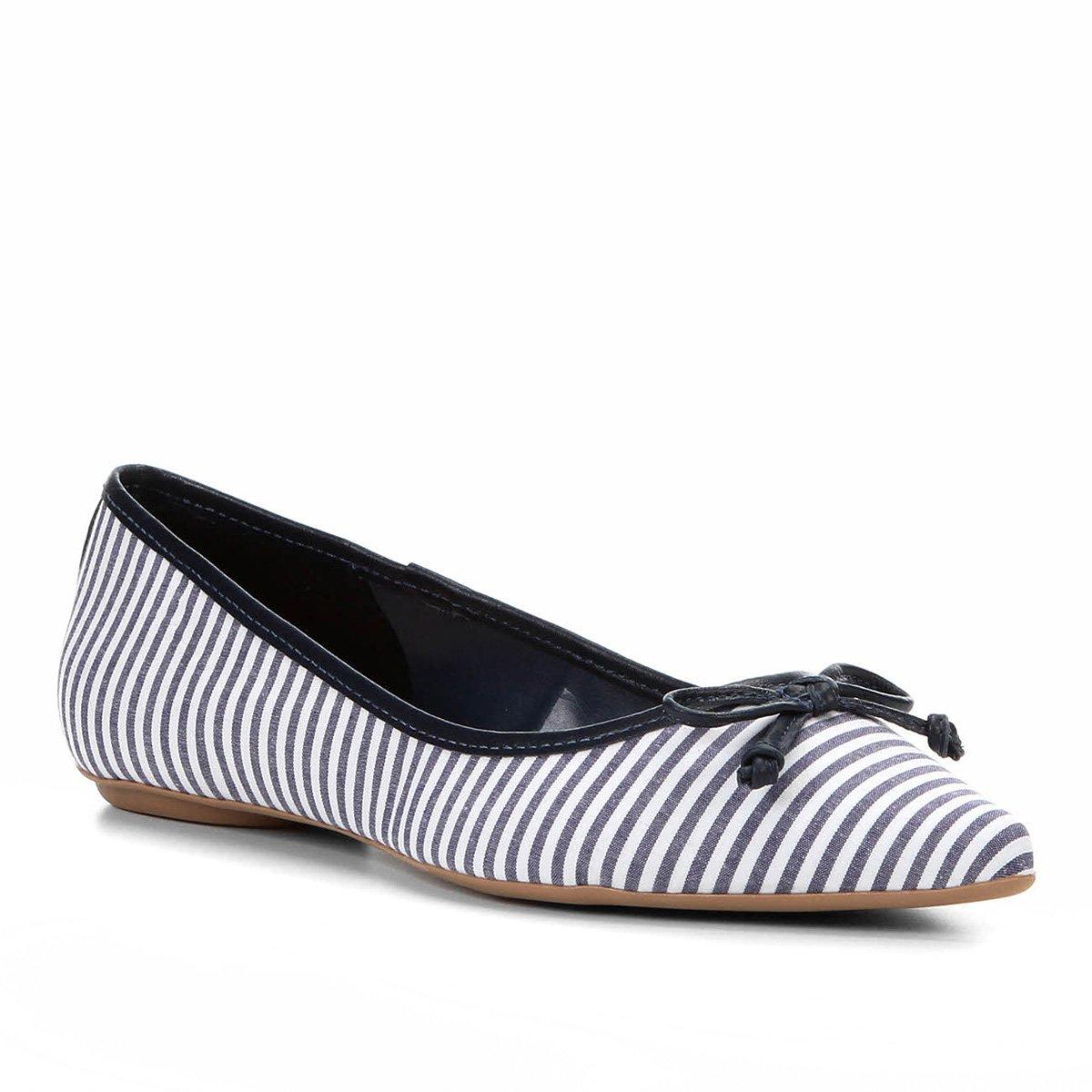 84183bb97 Sapatilha Shoestock Bico Fino Laço Feminina