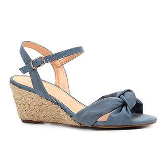 e33e13baf8 Sandália Anabela Shoestock Nobuck Nó Feminina