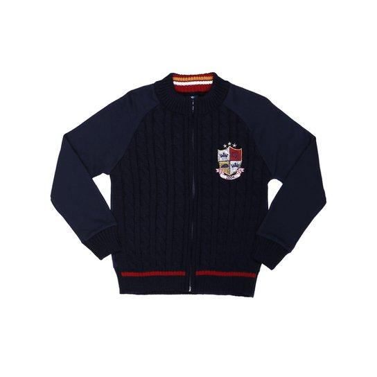 Suéter Infantil Para Menino - Azul marinho - Compre Agora   Zattini d6c7de7d60