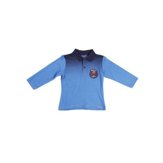 57d8364ad Polo Manga Longa Infantil Para Menino Azul - Compre Agora
