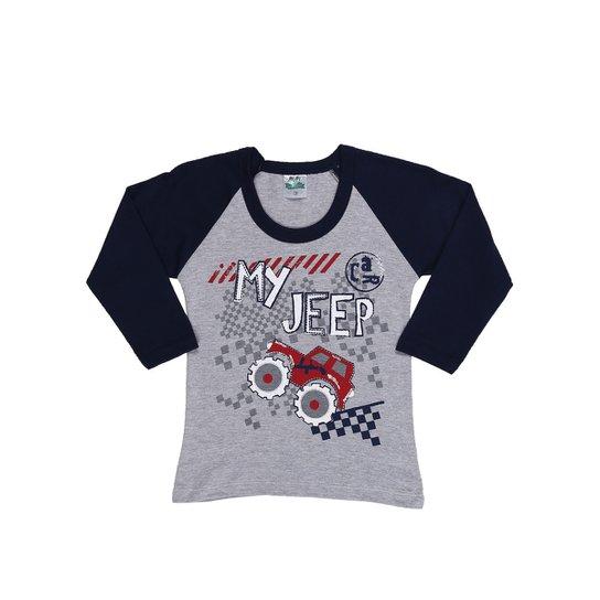 dee0dbfbf Camiseta Manga Longa Infantil Para Menino - Azul marinho - Compre ...