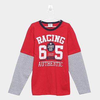 aa24e6e60 Camiseta Infantil Manga Longa Rovitex Masculina