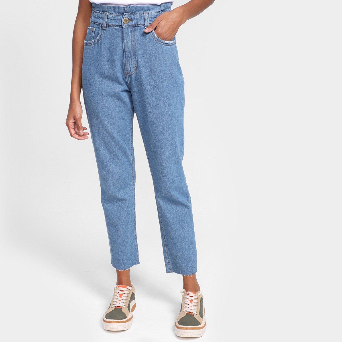 Calça Jeans Dzarm Mom Jeans Feminina