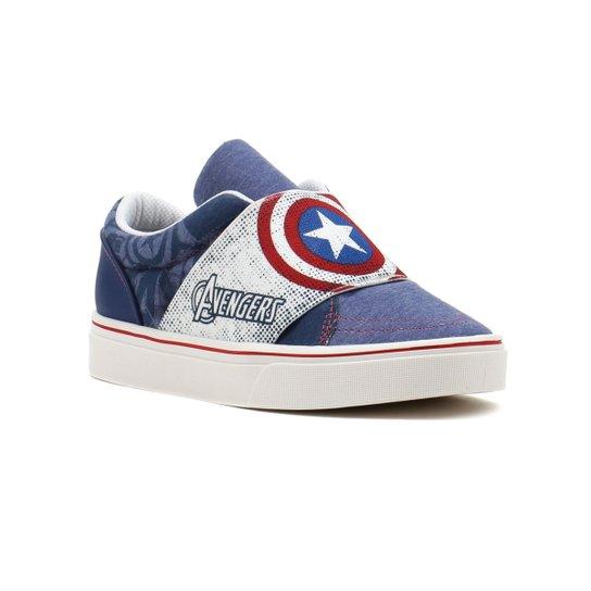 d1a53781f7b Tênis Infantil Para Menino Avengers Ultron Branco azul - Compre ...