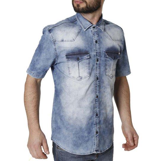 724d89be2 Camisa Jeans Manga Curta Masculina Bivik - Compre Agora