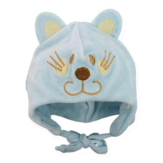 b9a09208da063 Touca Bebê Masculina Plush Azul Clara Gatinho - Compre Agora