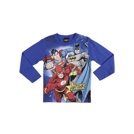 dd3b34a51 Camiseta Manga Longa Infantil Justice League Masculino - Compre ...