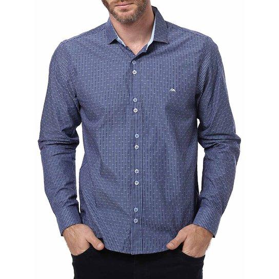 90e610e3e1 Camisa Manga Longa Masculina Azul - Compre Agora