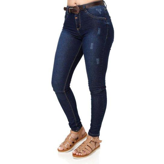 cba8d8f02 Calça Jeans Pisom Feminina - Azul - Compre Agora