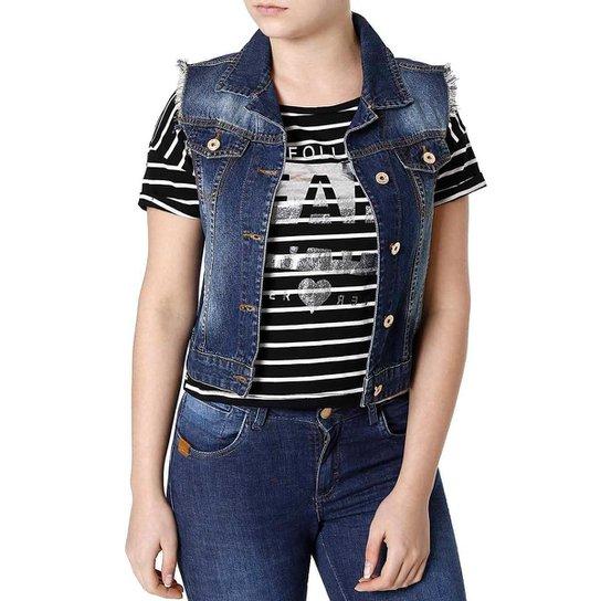 Colete Pisom Jeans - Azul - Compre Agora  08533b91b80ca