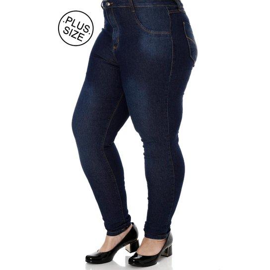 88d83519d Calça Jeans Pisom Plus Size Feminina - Azul - Compre Agora