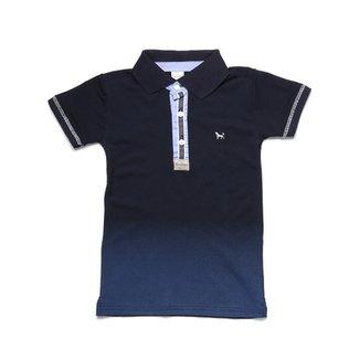 Camisa Polo Manga Curta Juvenil Azul marinho 4ecc55412d79f