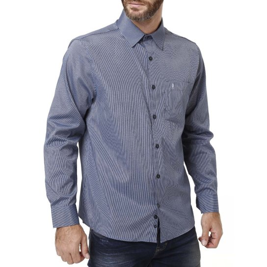 9ff6a49ab5 Camisa Manga Longa Masculina Azul - Compre Agora