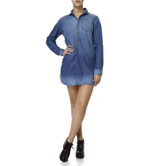 ca8b9b38ebf54 Vestido Curto Jeans Feminino Vesty Brasil - Compre Agora