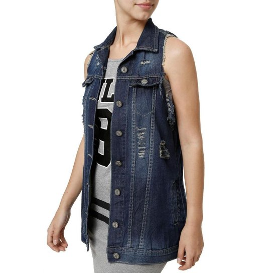Colete Jeans Feminino - Compre Agora  d18c64729bfb4