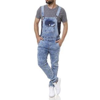 b8d435b573 Macacão Jeans Masculino Azul