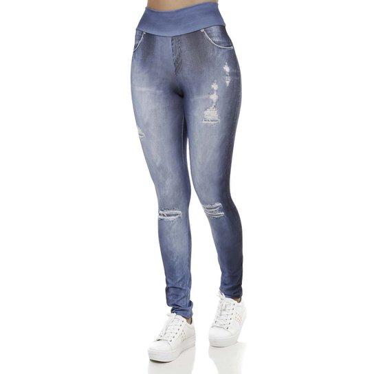 032e73ab06 Calça Legging Feminina Azul | Zattini