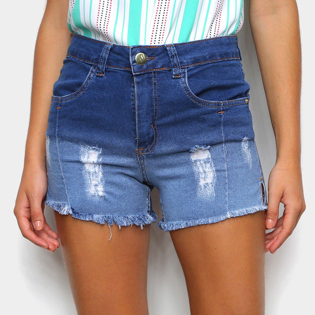 Short Jeans Just Denim Degradê Feminino