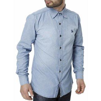 cd59b7e2b00cc Camisa Jeans Manga Longa Masculina