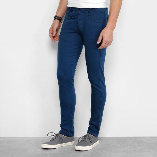 Calça Sarja Slim Zamany Básica Masculina - Azul - Compre Agora  0e2c5018cc298