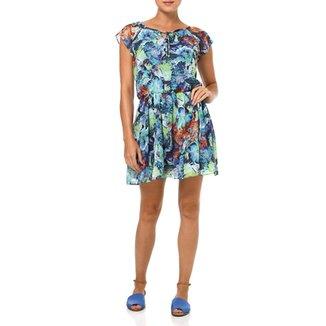 a9009594aa Vestido Curto Feminino Verde azul