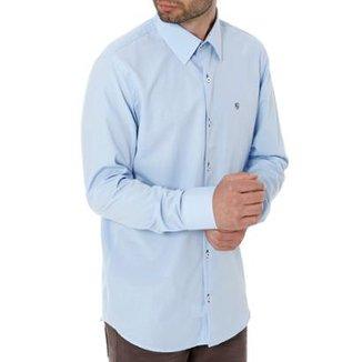 5ea8b67a360f3 Camisa Enzo Vitorino Slim Manga Longa Masculina