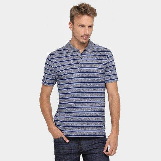 5554d602778a1 Camisa Polo Lacoste Piquet Listras Piquet Mescla Regular - Compre ...