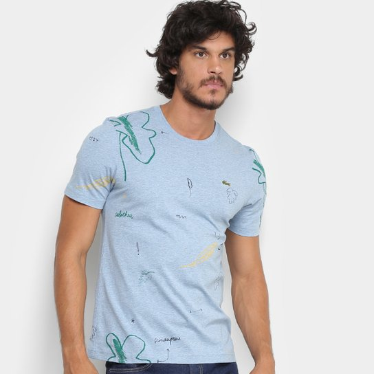 Camiseta Lacoste Live Flowers Masculina - Compre Agora   Zattini f32b55848a
