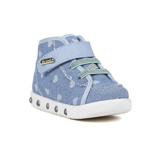 33b82a278f8 Tênis Infantil Brink Luz Led Feminina - Azul - Compre Agora