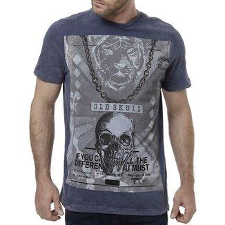 edc94ed213d04 Camiseta Manga Curta Masculina Azul
