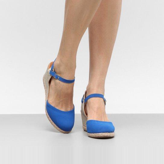 e6286e5d73 Sandália Espadrille Anabela Drezzup Corda Feminina - Azul - Compre ...
