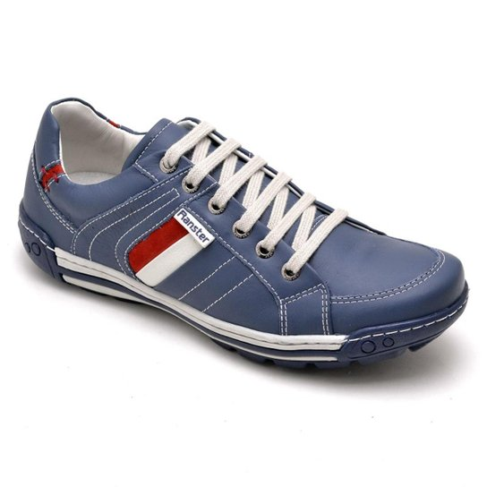 5c0ba668fcc Sapatênis Couro Confort Ranster Masculino - Azul - Compre Agora ...