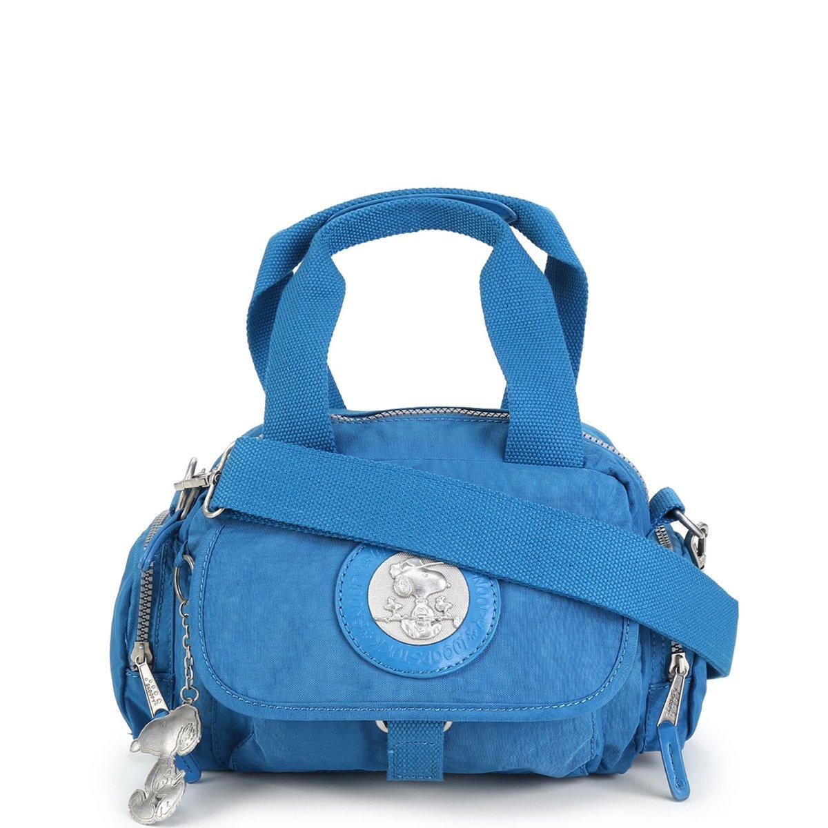 Bolsa Snoopy Shopper Pequena Com Bag Charm Feminina