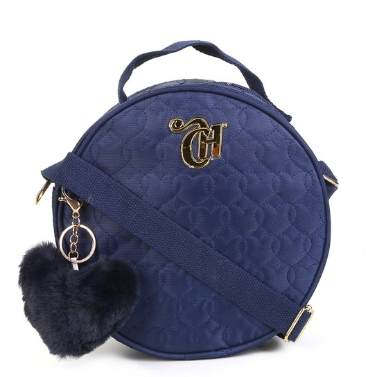 6b11eb635 Bolsa DMW Mini Bag Matelassê Detalhe Metal Capricho Feminina - Azul ...