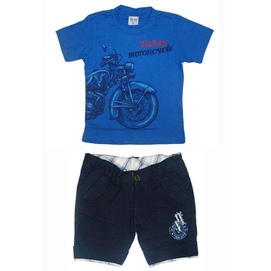 f892d72fc Conjunto Infantil Tileesul Masculino - Azul - Compre Agora